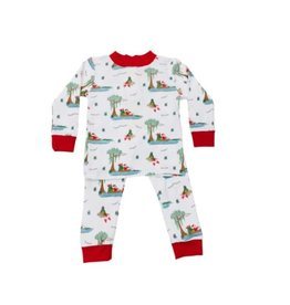 Lulu Bebe LLC Santa Bayou LS Pajama Set