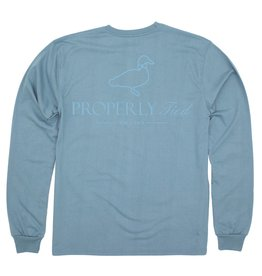Properly Tied Traditional Logo LS Steel Blue