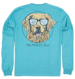 Properly Tied Baby Tee LS Cool Dog Emerald