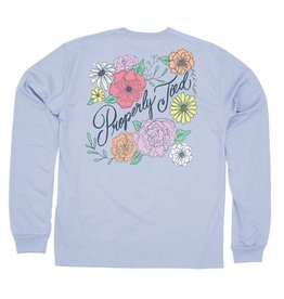 Properly Tied Floral LS Periwinkle
