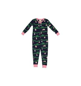 The Beaufort Bonnet Company Noelles Night Night Non-Footed Deck the Halls 2T