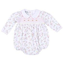 Magnolia Baby Grace's Classic Smocked Print L/S Bubble
