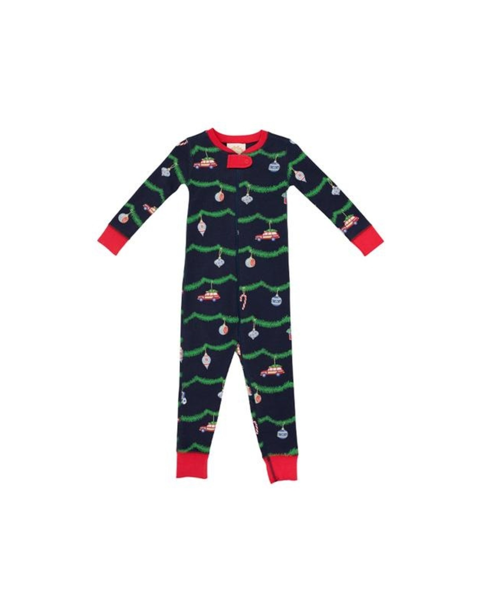 The Beaufort Bonnet Company Knoxs Night Night Non-Footed Deck the Halls 2t