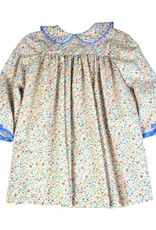 Funtasia Too Blue/Pink Floral Long Sleeve Dress