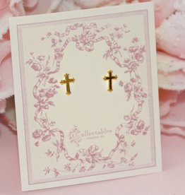 Collectables Gold Cross Earrings