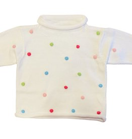 Luigi Multi Color Pom-Poms All Over Sweater