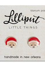 Lilliput Little Things Santa Claus Stud Earrings