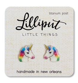 Girl Stud Earrings Rainbow Unicorn