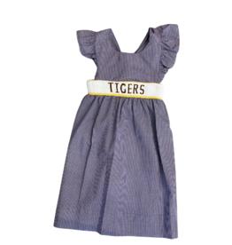 Krewe Kids Smocked TIGERS Dress