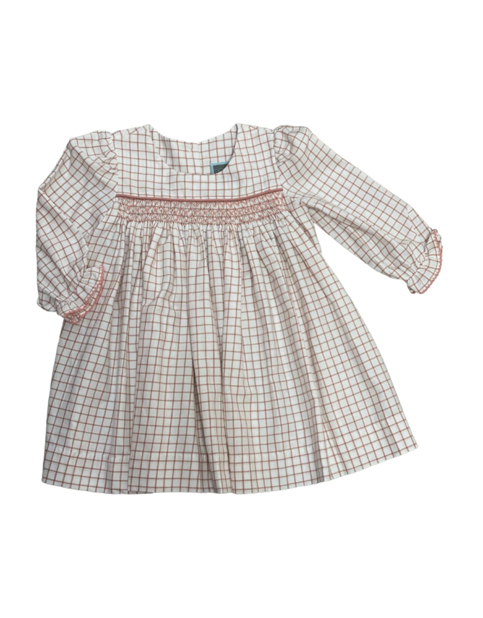 Geo Dress, Rose/White