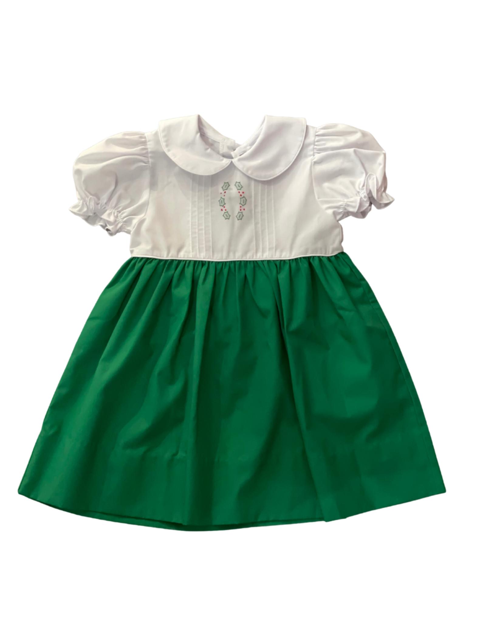 Auraluz Green Holly Dress