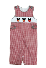 Mouse Ears Smocked Boys Longall