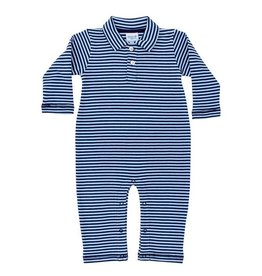 The Bailey Boys Navy Bayberry Stripe Knit Collar Longall