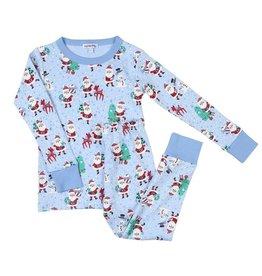 Magnolia Baby Jolly Santa Long Pajama Set LB