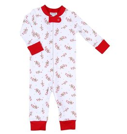 Magnolia Baby Vintage Candy Cane Zipped Footie