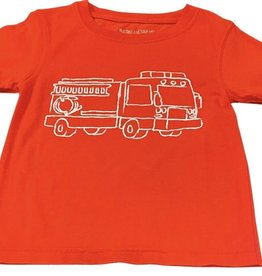 Mustard & ketchup SS Red Firetruck Tshirt