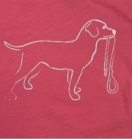 Mustard & ketchup LS Pink Dog with Leash Tshirt