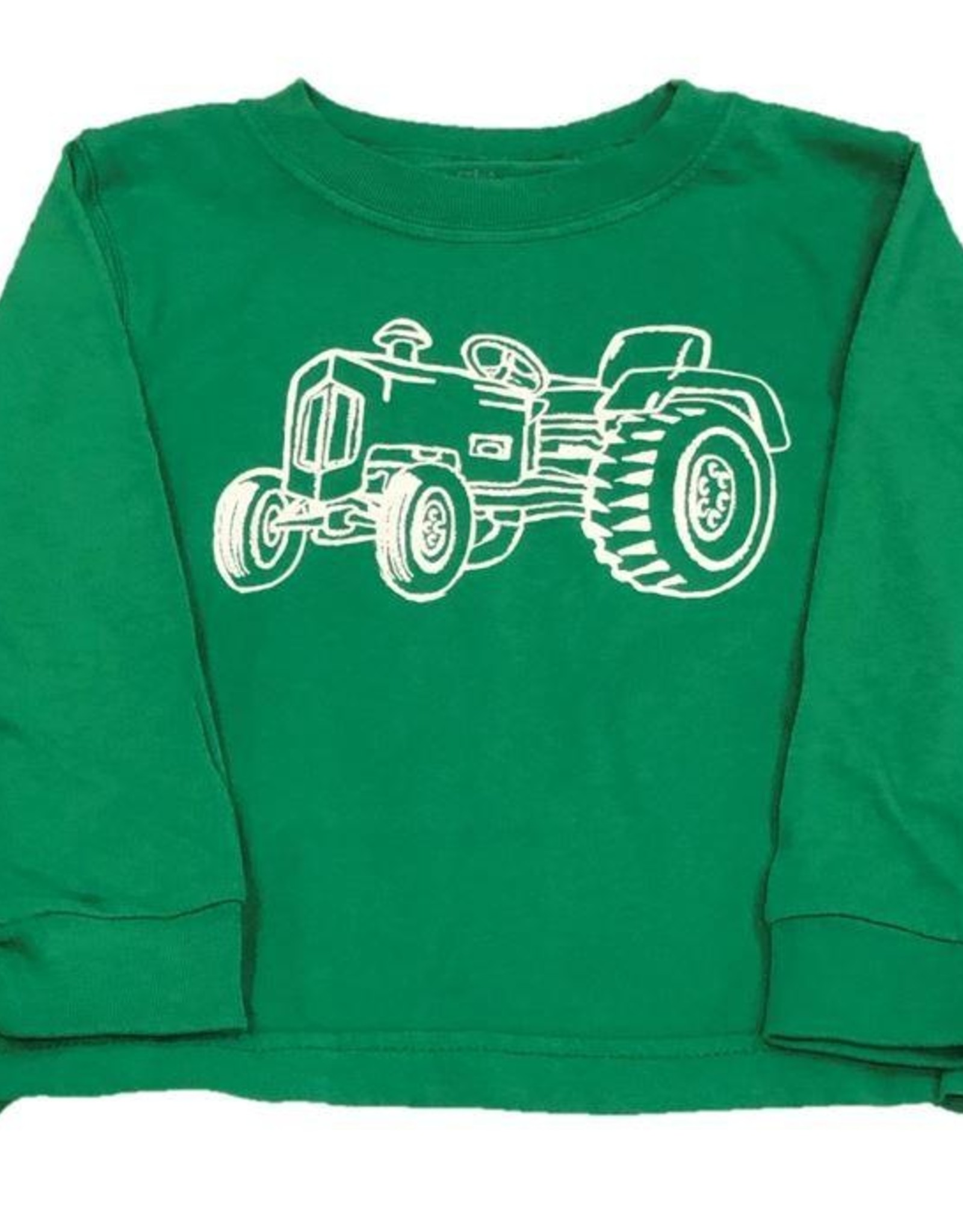 Mustard & ketchup LS Grass Green Tractor Tshirt