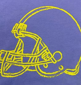 Mustard & ketchup SS Purple Tshirt with Gold Helmet