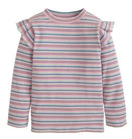 Bisby Sadie Top in Lilac Multi Stripe