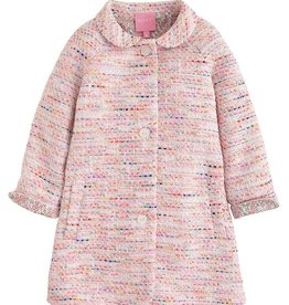 Bisby Pink Boucle Cotswold Coat