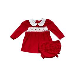 Magnolia Baby Natalie And Nicholas L/S Red Diaper Set