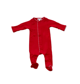 Magnolia Baby Solid Red Basics Footie