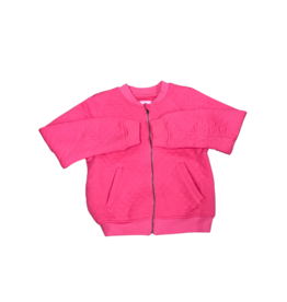 Bisby Hot Pink Bomber Jacket