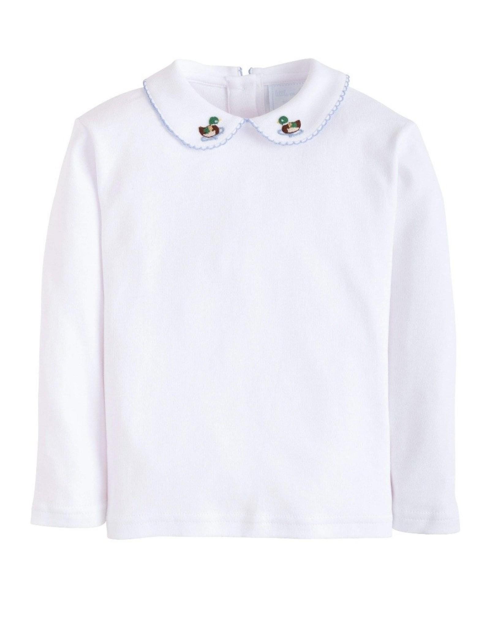 Little English L/S Pinpoint Mallard Shirt