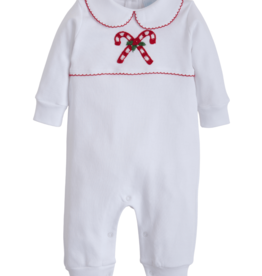 Little English Candy Cane Crochet Playsuit