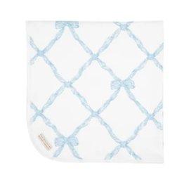 The Beaufort Bonnet Company Baby Buggy Blanket Buckhead Blue Belle Meade Bow