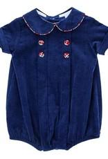 The Bailey Boys Navy Cord Tartan Plaid Dressy Bub
