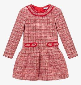 Mayoral Red Tweed Drop Waist Dress