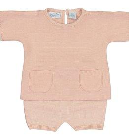Feltman Brothers Pink Knit Short Set