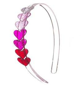 Lillies&Roses Centipede  Heart Glitter Pink Headband