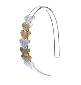 Lillies&Roses Centipede  Heart Gold Headband