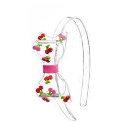 Lillies&Roses Fat Bow Headband Cherry