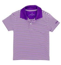 Properly Tied Dallas Performance Polo Purple Stripe