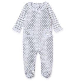 Lila and Hayes Lucy Romper Tiny Trees Pink