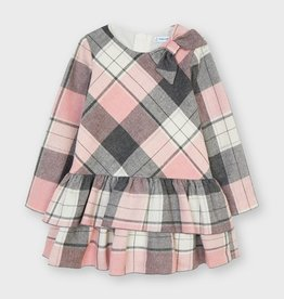 Mayoral Pink And Grey Plaid Dress 4914