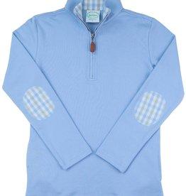 Grace And James Kids Rowan Plaid Half Zip Pullover