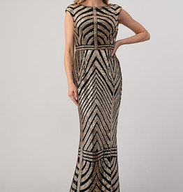 Minuet Gold Sequin Gown