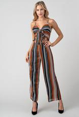 Minuet Multi Stripe Cut-Out Jumpsuit