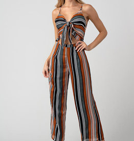 Minuet Multi Stripe Cut-Out Jumpsuit