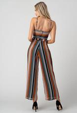 Multi Stripe Cut-Out Jumpsuit