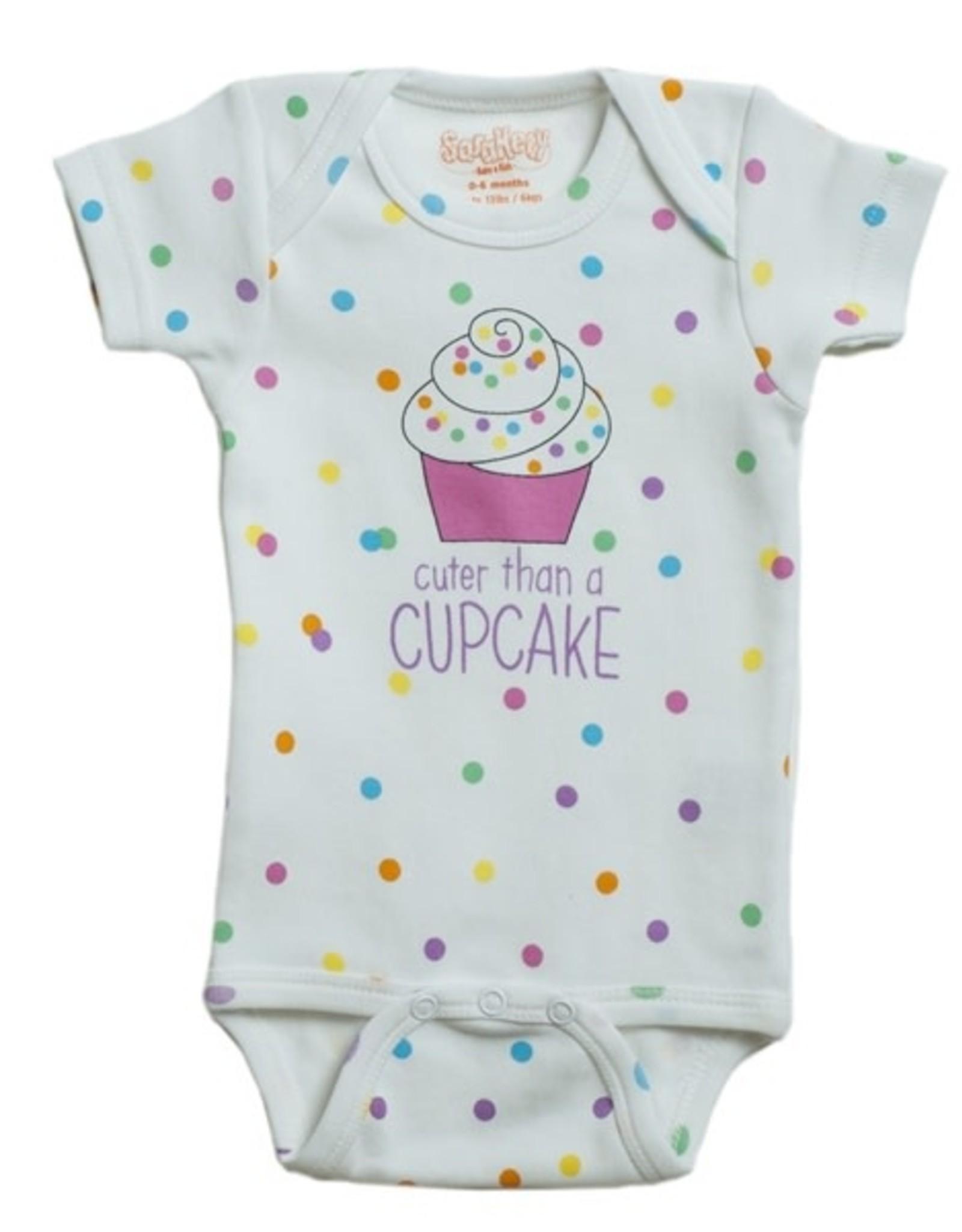 Sara Kety Onesie Cupcake 12-18 Months Wht