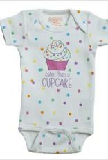 Onesie Cupcake 0-6 Months Wht