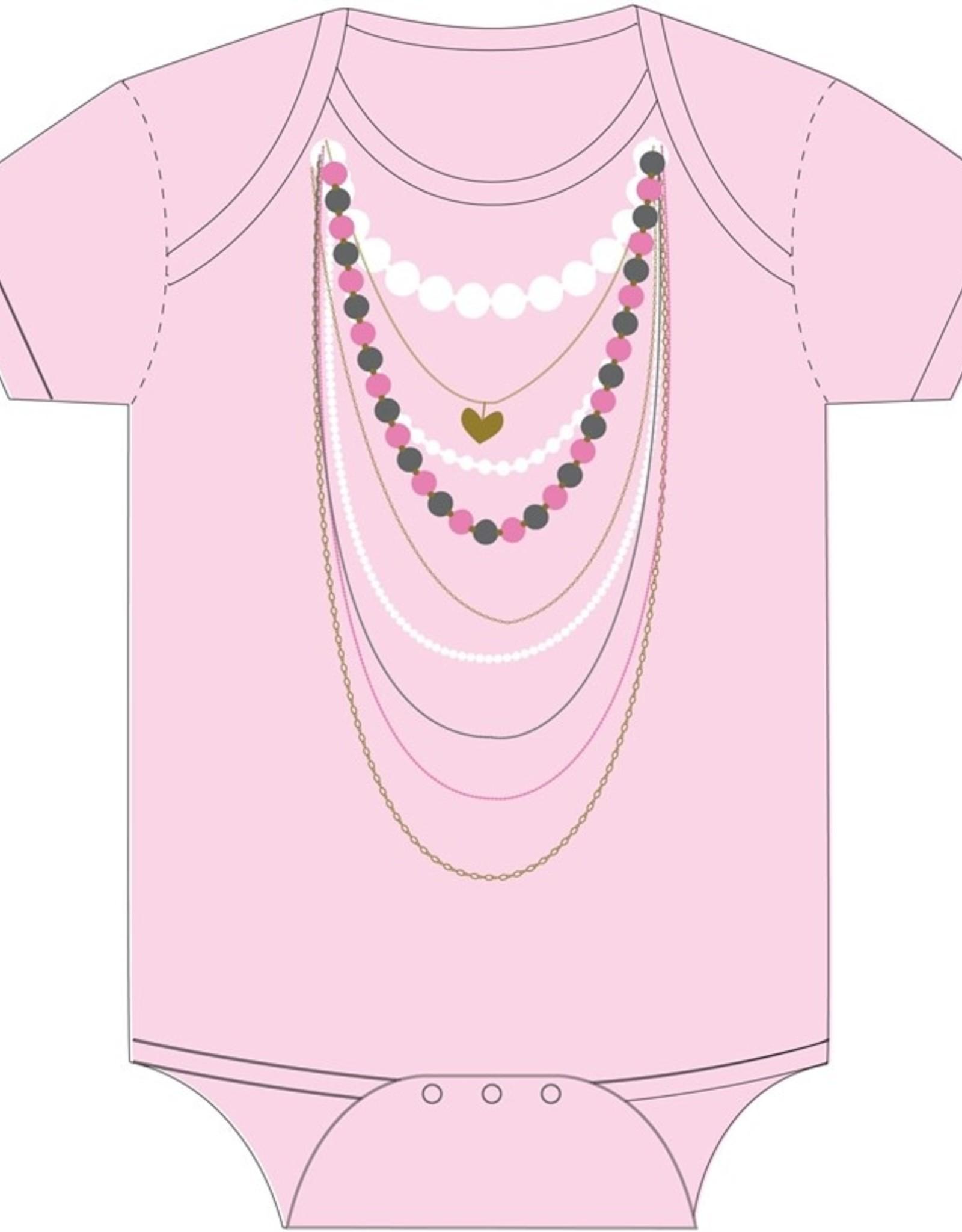 Sara Kety Onesie Pink Necklaces 12-18 Months Pink