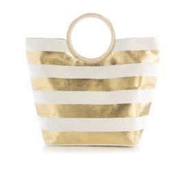 Shiraleah Gold Stripe Tote