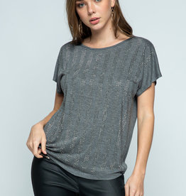 SS Charcoal Top w/Stones